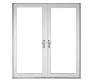Sunlight aluminum hinged patio doors sunlight windows for Double hinged patio doors